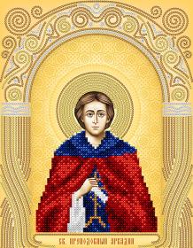 Схема для вышивки бисером на атласе Святой Преподобный Аркадий А-строчка АС4-160 - 51.00грн.