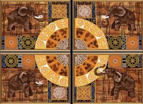 Схема для вышивки бисером на атласе Колесо фортуны (4 части), , 201.00грн., В40007, Новая Слобода (Нова слобода), Картины из нескольких частей