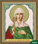 Рисунок на ткани для вышивки бисером Святая Антонина
