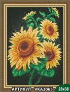 Рисунок на ткани для вышивки бисером Подсолнухи