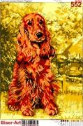 Схема вышивки бисером на габардине Собака Спаніель