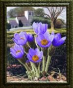 Схемы для вышивания бисером на авторской канве Голубые цветочки