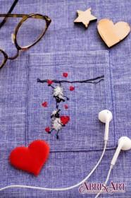 Набор для вышивки крестом на одежде Веселые барашки