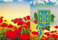 Схема для вышивки бисером на атласе Обложка для паспорта Вишиванка БН-071 атлас