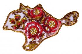 Набор - магнит для вышивки бисером Карта Украины АР Крым, , 56.00грн., АМК-001, Абрис Арт, Украина