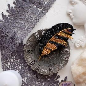 Набор для вышивки украшения Перо