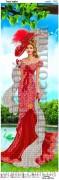 Схема вышивки бисером на атласе Панно Леди мечта