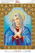 Схема для вышивки бисером на габардине Божа Матір Умиління