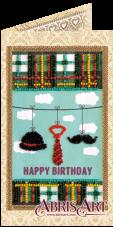 Набор-открытка для вышивки бисером Набор джентльмена