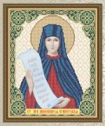 Схема для вышивки бисером на габардине Св. Преп. Апполинария Египетская (Полина)