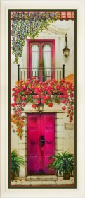 Набор для вышивки нитками Цветущий балкон