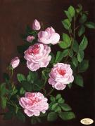 Схема вышивки бисером на атласе Розовая ветвь