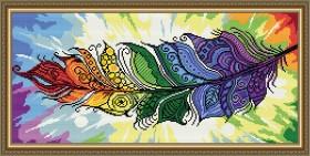 Набор для выкладки алмазной техникой Перо Жар-птицы, , 500.00грн., АТ3209, Art Solo, Алмазная мозаика