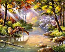 Набор для выкладки алмазной мозаикой Водопой у ручья