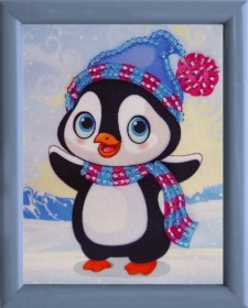 Схема для вышивки бисером Пингвин
