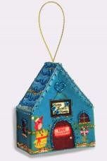 Набор для изготовления игрушки из фетра для вышивки бисером Домик Баттерфляй (Butterfly) F008