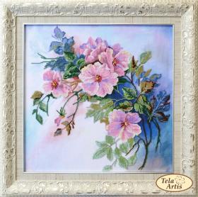 Набор для вышивки бисером Дикая роза Tela Artis (Тэла Артис) НТК-041 - 550.00грн.