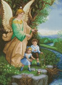 Набор для выкладки алмазной мозаикой Ангел Хранитель Алмазная мозаика DM-395 - 705.00грн.
