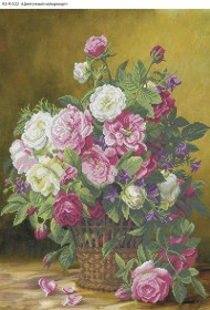 Схема для вышивки бисером на габардине Цветочный натюрморт Acorns А2-К-522 - 144.00грн.