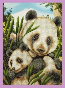 Набор для вышивки бисером Панды-милашки