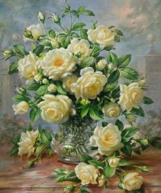 Набор для выкладки алмазной мозаикой Букет белых роз Алмазная мозаика DM-055 - 910.00грн.