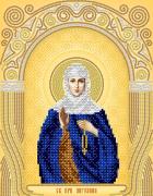 Схема вышивки бисером на атласе Св. Прп. Ангелина