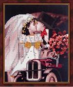 Схема для вышивки бисером на габардине Детская свадьба