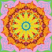 Схема для вышивки бисером на атласе Мандала любви