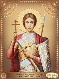 Схема вышивки бисером на атласе Святой Великомученик Димитрий (Дмитрий) Солунский Tela Artis (Тэла Артис) ТД-101 - 30.00грн.