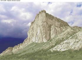 Схема для вышивки бисером на габардине Крым. Белая скала