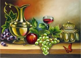Набор для выкладки алмазной мозаикой Бокал вина и фрукты Алмазная мозаика DM-230 - 655.00грн.