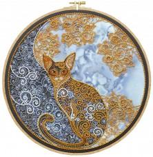Набор для вышивания бисером Лунный кот Абрис Арт АВ-709