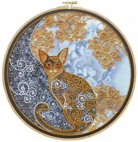 Набор для вышивания бисером Лунный кот Абрис Арт АВ-709 - 525.00грн.
