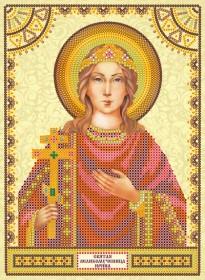 Схема для вышивки бисером на холсте Святая Ирина