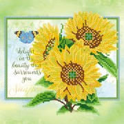 Схема вышивки бисером на холсте Золото солнца