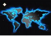 Схема для вышивки бисером на атласе Карта мира
