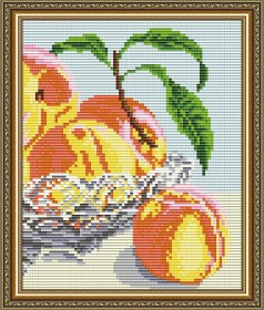 Набор для выкладки алмазной мозаикой В хрустале.Персики Диптих 2 Art Solo АТ5548 - 248.00грн.