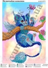 Схема вышивки бисером на атласе Необычный котенок Юма ЮМА-4211