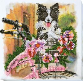 Набор для вышивания бисером на холсте Увлекательная прогулка, , 434.00грн., АВ-556, Абрис Арт, Собака символ 2018 года своими руками