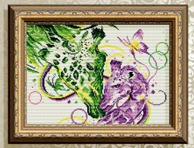 Алмазная мозаика Палитра чувств. Жирафы