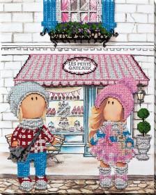 Набор для вышивания бисером Встреча возле кафе Абрис Арт АВ-740 - 537.00грн.