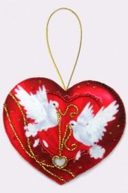 Набор для изготовления игрушки из фетра для вышивки бисером Сердечко, , 48.00грн., F014, Баттерфляй (Butterfly), Наборы для шитья кукол