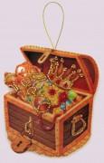 Набор для изготовления игрушки из фетра для вышивки бисером Сундук