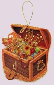 Набор для изготовления игрушки из фетра для вышивки бисером Сундук, , 48.00грн., F100, Баттерфляй (Butterfly), Новый год
