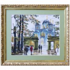 Набор для вышивки крестом на белой канве Владимирский собор