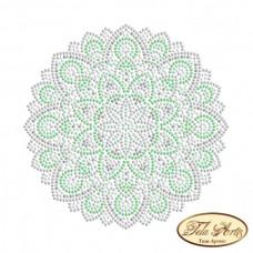 Схема вышивки бисером на габардине Мандала Мятная свежеть Tela Artis (Тэла Артис) МА-006(1)