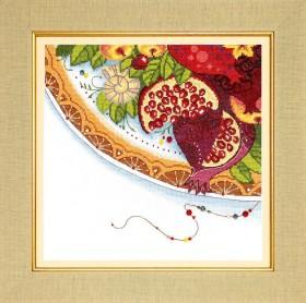Набор для вышивания крестом Краски Востока. Гранат, , 195.00грн., ВТ-187, Cristal Art, Натюрморты