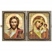 Набор для вышивки иконы в рамке-складне Христос Спаситель и Пресв. Богородица Казанская