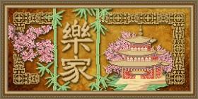 Схема вышивки бисером на габардине Процветание в доме Art Solo VKA3109 - 105.00грн.