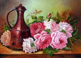 Набор для выкладки алмазной мозаикой Садовые розы DIAMONDMOSAIC DM-237 - 430.00грн.